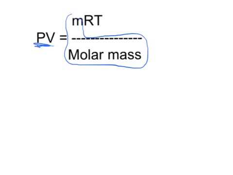 Deriving Molar Mass Equation from Ideal Gas Law