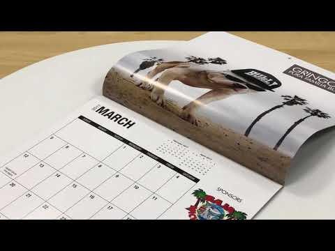 2018 New Year Wall Calendar Design - qinprinting.com