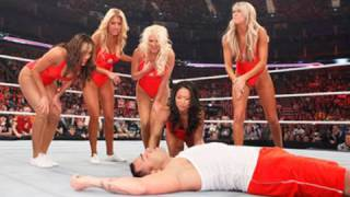 Raw: Divas Baywatch Babe Triple Threat Tag Match
