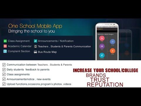 School  College Mobile app web admin video