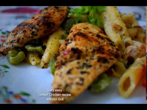 How to make Grilled Chicken at home without Oven | Delicious Grilled Chicken Recipe | Very easy!
