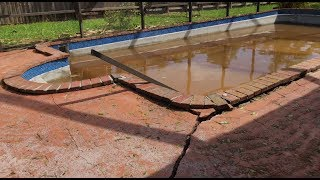 Hurricane flooding lifts pool out of the ground. Complete time-lapse demolition/rebuild.
