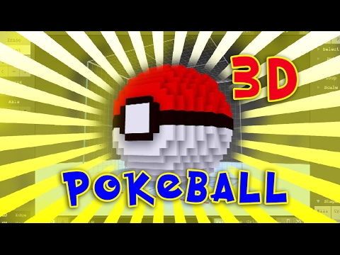 How To Make A Pokeball  minecraft 3D