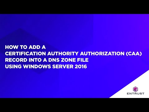 How to add a CAA record into a DNS zone file using Windows Server 2016