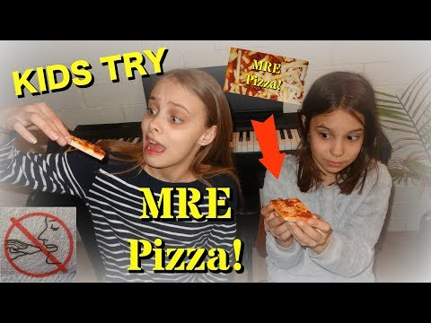 Kids Try Out MRE Pizza!