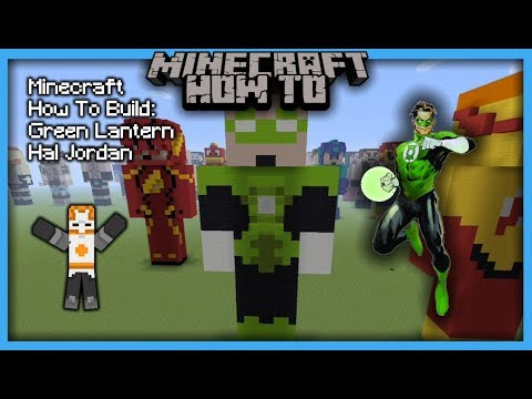 Minecraft How To Build: Green Lantern Hal Jordan (Statue)