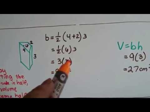 Grade 7 Math #9.5b, Volume of a Trapezoidal prism