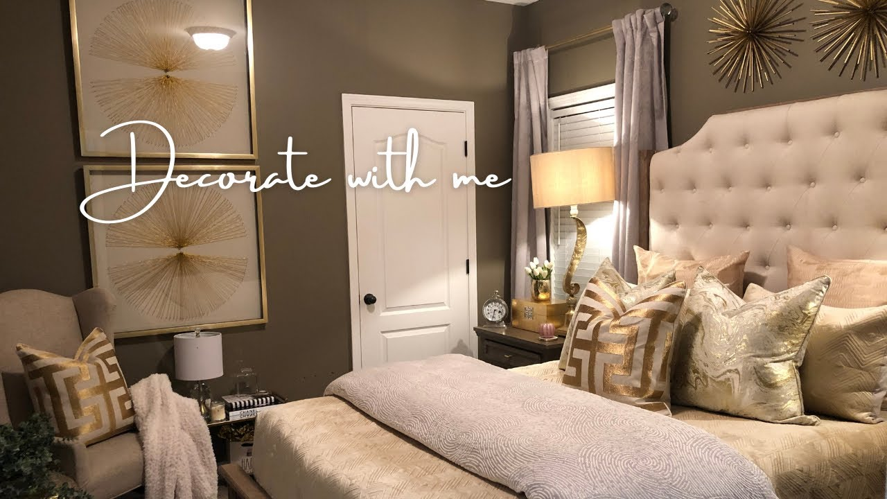 SMALL GLAM BEdROOM DECORATING IDEAS | DECORATE WITH ME