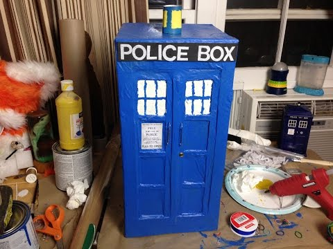 How to building a Doctor Who Tardis Pinata. - Day 392 | ActOutGames