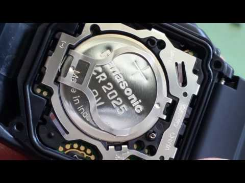 How To Change CASIO DataBank Calculator DBC32-1ACB 2888 Wrist Watch CR2025 Battery Full HD 2017
