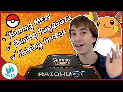 Opening Pokemon Shining Raichu GX Special Collection Box
