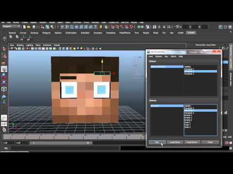 Autodesk Maya Tutorial: Small Control Panel [minecraft rig]