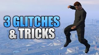 GTA 5 Online - 3 NEW GLITCHES & TRICKS (Super Launch Glitch, Survive Sticky Bombs & Hiding Spot)