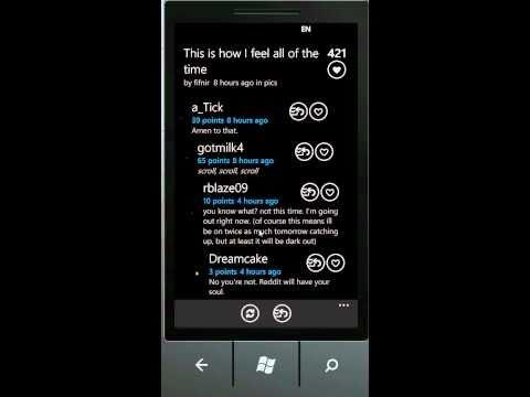 Reddit for Windows Phone