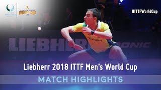 Hugo Calderano vs Emmanuel Lebesson I 2018 ITTF Men's World Cup Highlights (Group)