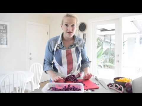 how to store and serve chopped raw vegetables