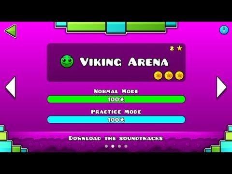 "Geometry Dash Meltdown: ""Viking Arena"" 100% Complete [All Coins] - GuitarHeroStyles"
