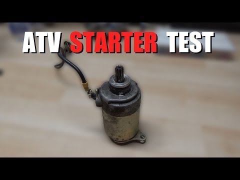 How to Test an ATV Starter!