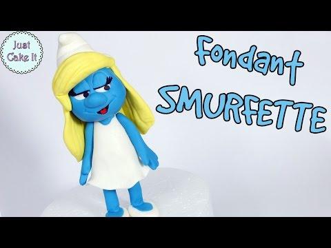 How to make fondant Smurfette cake topper tutorial / DIY Smurfette