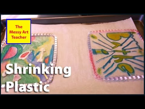 How to shrink recycled plastic.