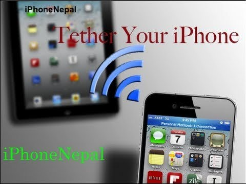 How To Setup Internet Tethering & Hotspot For iPhone 5/4S/4/3GS iOS 6.1.3/6.1.2/6.1.1/6.0.1/5.1.1