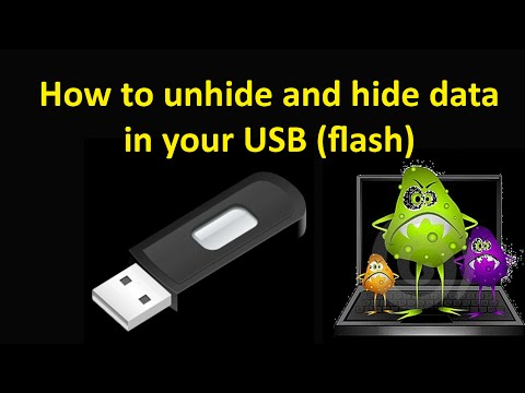 How to show data in USB when virus hide