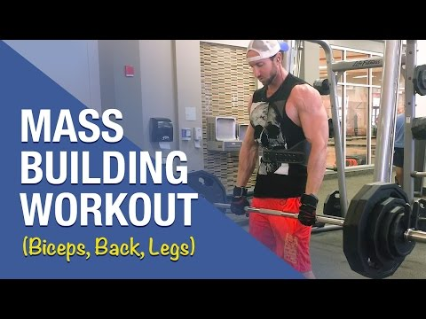 Mass Building Workout: Follow This To Get Larger Biceps, A Wider, Thicker Back, And Muscular Legs