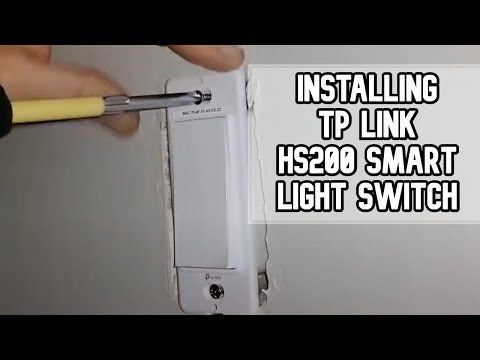 How to install TP-LINK HS200 Smart WIFI Light Switch DIY video | #diy #smartswitch