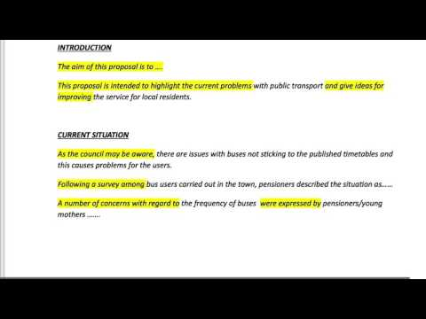 CAE PROPOSAL EXAMPLE SENTENCES AND WRITING TIPS