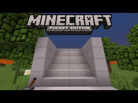 HOW TO MAKE A HIDDEN STAIRCASE DOOR IN MINECRAFT PE 0.15.2 | MCPE 0.15.2 REDSTONE CREATION