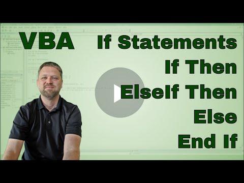 Using the If ElseIf Else Statement in Excel VBA (Macro)
