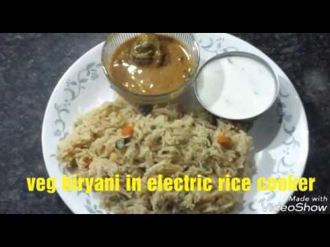 Veg Biryani in Electric Rice Cooker