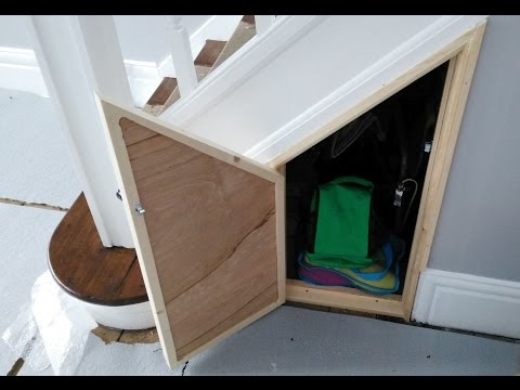 Building an under stairs cupboard door