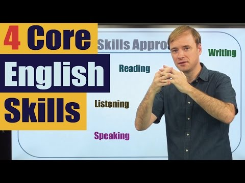 How to Study English: Four Core English Skills