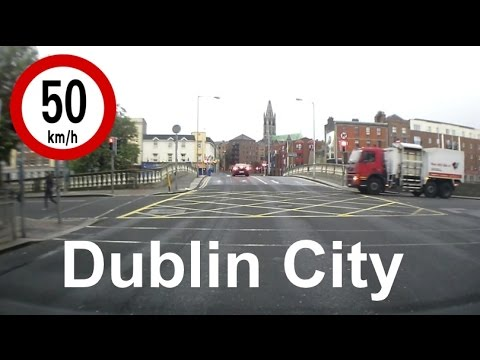 Dash Cam Ireland  - Driving Across Dublin City Centre in Under 3 Minutes !