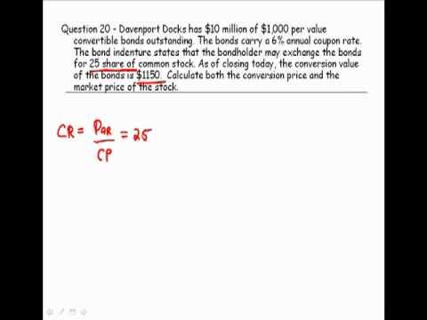 Conversion Value of a Convertible Bond - CFP Tools