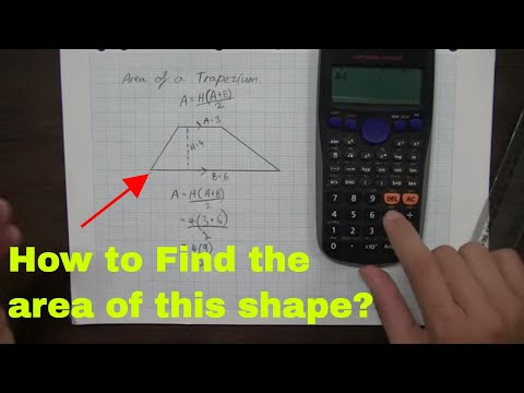How to find the Area of a Trapezium or Trapezoid