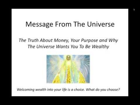 Webinar:  Why The Universe Wants You To Be Wealthy - 5 Steps To Abundance Activation