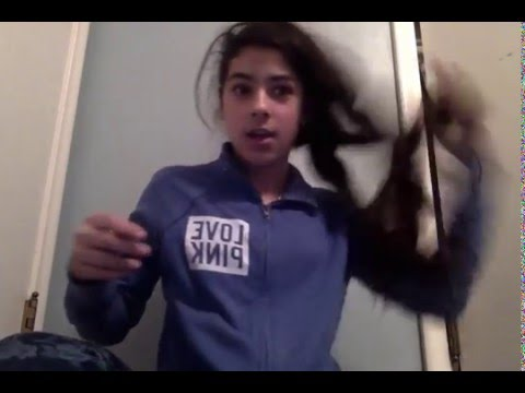 Girl Puts Nail Polish In Her Hair
