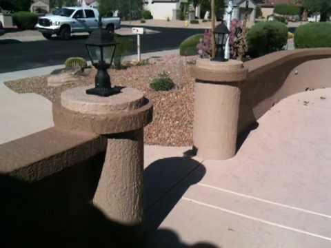 Sun City Grand front yard renovation