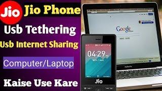 How To Use JioPhone's(F220B) Internet On PC & Laptop Via USB