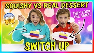 Download SQUISHY VS REAL DESSERT CHALLENGE | We Are The Davises Video