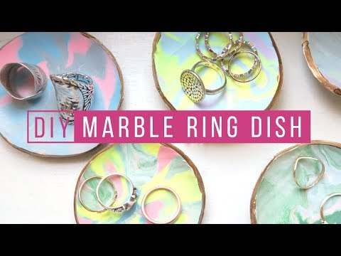 DIY MARBLE RING DISH | MARBLE DECOR | DO IT YOURSELF