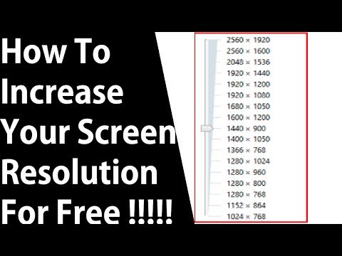 How to increase your screen resolution for your pc-laptop on windows 10 for free ✔