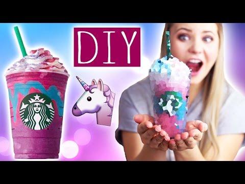 DIY STARBUCKS UNICORN Frappuccino! 🦄 🌈