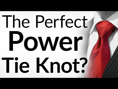 Perfect Power Tie Knot How To Tie A Double Windsor Neck Tie Full Wind