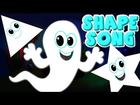 the shapes song | ghost shapes | halloween scary rhymes | nursery rhyme | kids songs | kids tv