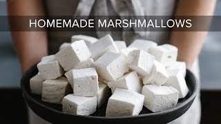 HOW TO MAKE MARSHMALLOWS | homemade marshmallows without corn syrup