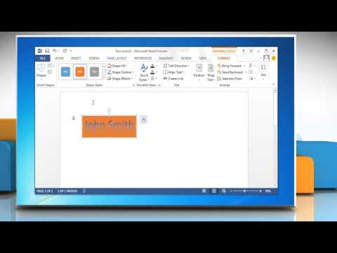 How to edit a WordArt Object in MS Microsoft® Word 2013