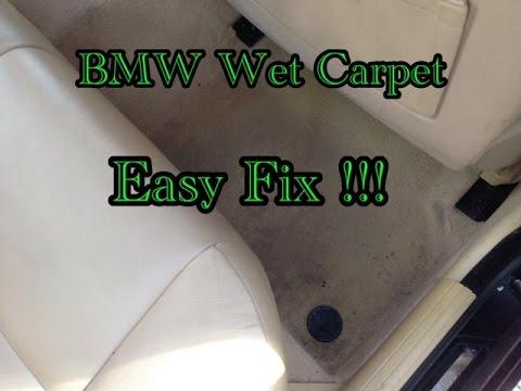 BMW Wet Carpet Problem Easy Fix E39 E38 E53 E36 E65 E66 E60 E90 E92 E85